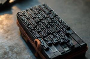 printing words unsplash