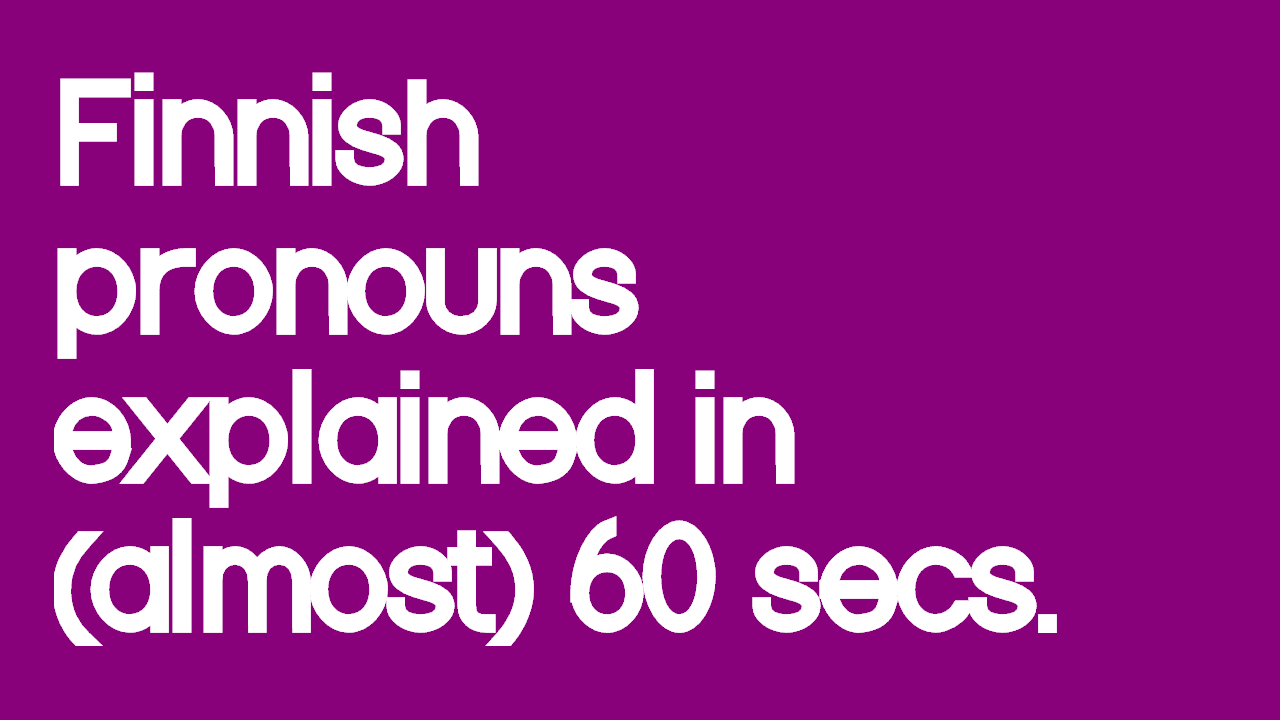 finnish-pronouns-explained